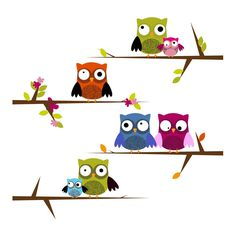 #MumsWay - Mochic Wall Art > Pretty Owl #WallSticker Set
