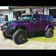 Sick purple jeep. #jeepedin