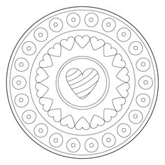 Mindfulness Colouring, Point Mousse, Heart Ornament, Abstract Images, Free Printable Coloring Pages, Mandala Coloring, Free Vector Art, Art Pages, Royalty Free Images