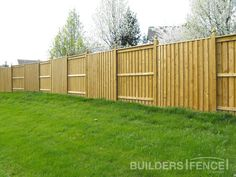 A Board-and-Batten fence is a good option when considering a privacy fence. The space between boards is covered on the reverse side by a batten or additional board, creating and enclosed area with no gaps.