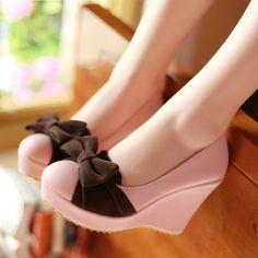 Lolita lolita cute high-heeled shoes, black and brown powder maid cos