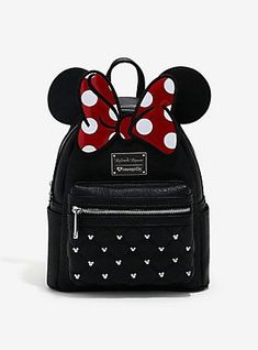 Loungefly Disney Minnie Mouse Bow Ears Mini Backpack 76af2153949ea