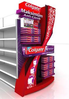 Colgate maximum anticuruk gondol on Behance Pos Display, Store Displays, Display Design, Store Design, Pos Design, Retail Design, Gondola, Exhibition Stall Design, Visual Schedules
