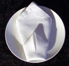 Folding Dinner Napkins: The Cone Napkin Folding Instructions