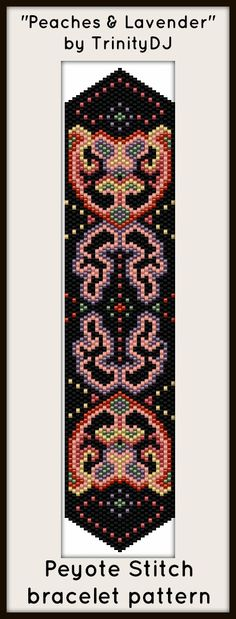 """""""Peaches & Lavender"""" - New peyote stitch bracelet pattern by TrinityDJ. Link for this listing will be available on Tuesday."""