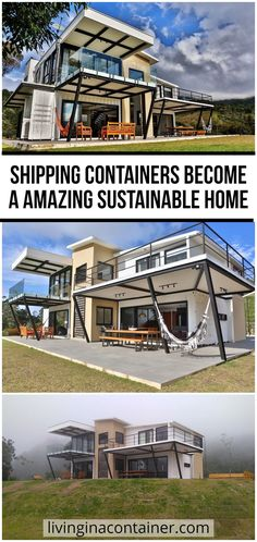 Living in a container does not mean living in a tight space or having to deal with heat. Metal boxes are an alternative increasingly in use for those looking for a sustainable and cheaper housing than masonry.  #shippingcontainerhomes #containerhomes #storagecontainerhomes #containerhouse #shippingcontainerhouse #shippingcontainercabin #containerhousedesign #containerhouseplans #containerhousedesigninterior #containerhomefloorplans Architecture Design Concept, Concept Models Architecture, Plans Architecture, Modern Architecture House, Architecture Details, Sustainable Architecture, Building A Container Home, Container Buildings, Container Houses