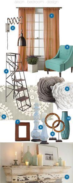 With Love, Design mood board for Alison Pickens. #interiordesign