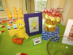 We have those cardboard blocks. What a cute idea! Sesame Street party