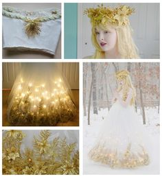 Cette robe d'ange de Noël est l'une des créations préférées d'Angela Clayton. | Les robes de cette costumière de 18 ans sont à couper le souffle
