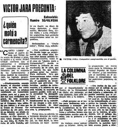 Víctor Jara no sólo es uno de los músicos más influyentes de Chile, sino además es una de las caras visibles de todos los que murieron dura... Victor Jara, Chile, Tinkerbell, Frases, Military History, Death, Actresses, Blue, Artists