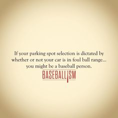 If you park your car behind the backstop, it deserves to get hit. #AmericasBrand