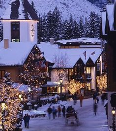 Snowy Vail Village at the Christmas, Colorado, United States