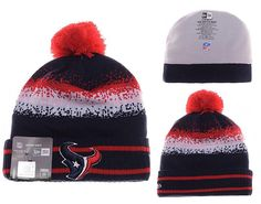 Mens   Womens Houston Texans New Era NFL On-Field Team Colors Fashion Spec  Blend Knit Beanie Hat With Pom - Navy   Red ba837da5315a