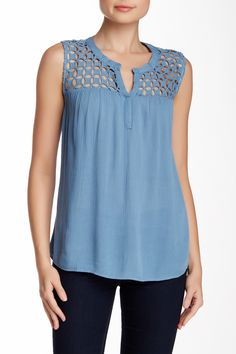 Daniel Rainn | Lace Yoke Blouse | Nordstrom Rack