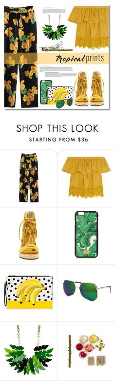 """""""Hot Tropics"""" by anitadz ❤ liked on Polyvore featuring Madewell, Vince Camuto, Dolce&Gabbana, Grey Ant, tropicalprints and hottropics"""