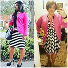 #ChubbyChique 7-19-2016 #ootd #beYOUtiful16 #pinneditspinnedit Black, white and pink inspiration from @curveebeauty
