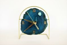 Modern SoLo Agate Clock,Made To Order,Desk Clock,Modern Clock,Minimalist,Trending,Wall Clock,Engagement Gift,Bohemian,Boho Decor,Wood,Geode by SoLoMarket on Etsy https://www.etsy.com/listing/270555097/modern-solo-agate-clockmade-to-orderdesk