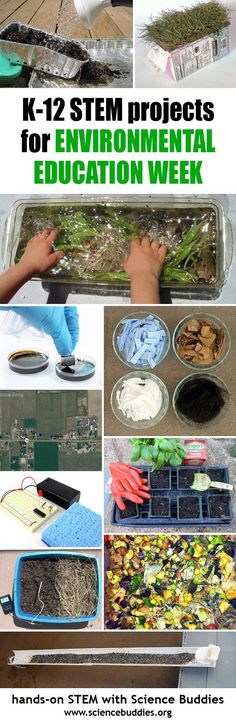 Hands-on Environmental Education STEM Project Roundup from Science Buddies for Environmental Education Week!