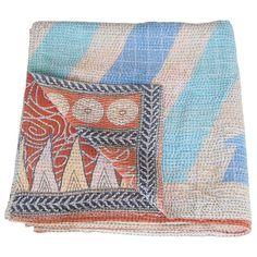 blanket cotton sari kantha papiya_fair trade india