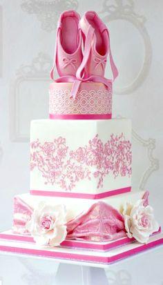 Pink Ballerina Cake