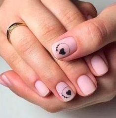 French Manicure Nails, Manicure E Pedicure, Gel Nails, Stylish Nails, Trendy Nails, Acryl Nails, Nagellack Design, Valentine Nail Art, Cute Nail Art Designs