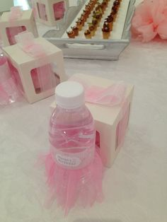 Ballerina birthday water bottels