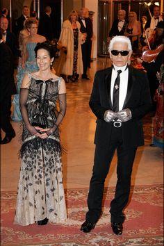 Karl Lagerfeld y Amanda Harlech