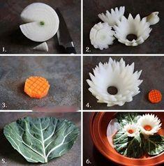 Dekoration Mit Gemüse Früchte