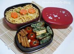 Bento Lunch Blog: Bento #16 Wok-Nudeln mit Spinat-Tamagoyaki
