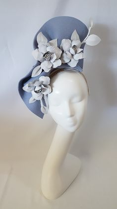 Millinery By Mel Race Day Fashion, Carnival Fashion, Flower Headdress, Royal Clothing, Fascinator Headband, Millinery Hats, Mad Hatter Tea, Love Hat, Leather Flowers