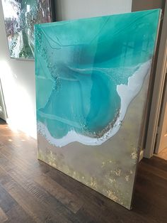 Epoxy Resin Art, Acrylic Resin, Acrylic Pouring, Resin Paintings, Modern Art Paintings, Ocean Colors, Pour Painting, Various Artists, Mixed Media Art