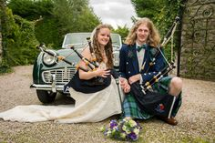 Earlier this year, we asked you to tell us the part piping played in the most important moments in your life, and we were delighted when you shared your stories with us. The first came from Gilian and Jolene, two pipers from the Netherlands who met while playing with the Beatrix Pipe Band. They're pictured here with their pipes on their wedding day! The image was projected onto The National Piping Centre for the launch of Piping Live 2016, where we'll celebrate more #MomentsThatMatter.