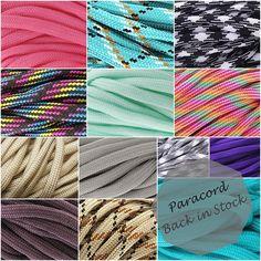 Het paracord is weer back in stock, in heel veel leuke kleurtjes en prints!   www.bykaro.nl voor kralen, bedels en meer...