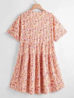 Shop Trendy Boho Dresses | Curve + Plus Size | SHEIN USA Summer Vacation Outfits, Boho Dress, Plus Size Women, Short Sleeve Dresses, Usa, Shopping, Style, Fashion, Swag