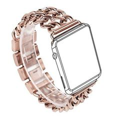 For Apple Watch Band Wearlizer Stainless Steel Watch Band Replacement Strap for Both Apple Watch Series 1 and Series 2 - 38mm Rose Gold