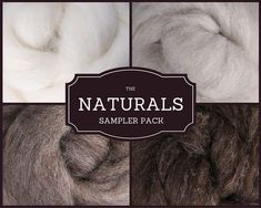 of each of our ALL NATURAL LINE of roving colors: Natural, Light Natural, Medium Natural, and Dark Natural. Felted Soap, Wet Felting, Needle Felting Supplies, Wool Felt Fabric, Felt Sheets, Natural Line, Thing 1, Penny Rugs, A Boutique