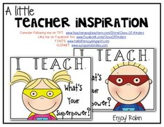 FREEBIE! Teacher Inspirational Posters {What's Your Superpower?}