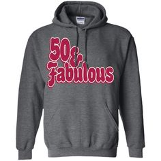50 AND FABULOUS 50TH BIRTHDAY PARTY WOMENS TRIBLEND LONG SLEEVE G185 Gildan Pullover Hoodie 8 oz.
