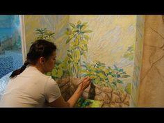 Мастер Класс Роспись пластиковой двери с применением декоративной штукатурки - YouTube