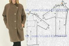 70 ideas sewing patterns for men coat Easy Sewing Patterns, Coat Patterns, Clothing Patterns, Dress Patterns, Diy Crafts Dress, Jacket Pattern, Fashion Sewing, Sewing Clothes, Dressmaking