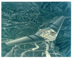 Northrop Concept for a flying wing Airliner    Presumably based on the Northrop YB-49.