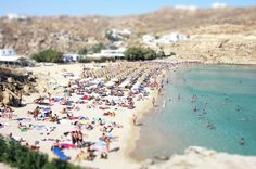 Mykonos Beach - Richard Silver ( Técnica Tilt-Shift)