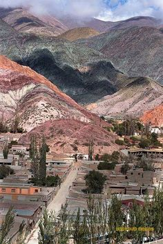 Cerro Siete Colores, Purmamarca. Argentina Beautiful World, Beautiful Places, Travel Around The World, Around The Worlds, Argentina South America, Mountain Drawing, Argentina Travel, Nature View, Central America