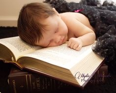 Baby bookworm  (newborn photography)