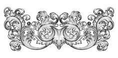 Vintage baroque frame scroll ornament vector Royalty Free Stock Photos