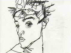 Egon Schiele self-portrait