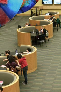 UVU Library Cafe Seating | Flickr - Photo Sharing! Interesting use of intimate and public space