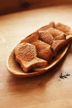 Tayaki, Japanese red bean paste dessert #wagashi #taiyaki
