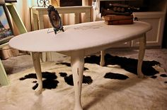 French Provincial Shabby Chic COFFEE TABLE, END TABLE, French label graphic