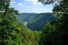 Краєвид з мосту Нью-Рівер-Гордж, Західна Вірджинія (New River Gorge Bridge, WV)